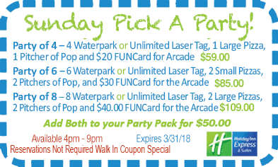 Sunday Pick A Party Coupon!