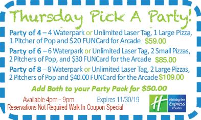 Thursday Pick A Party!
